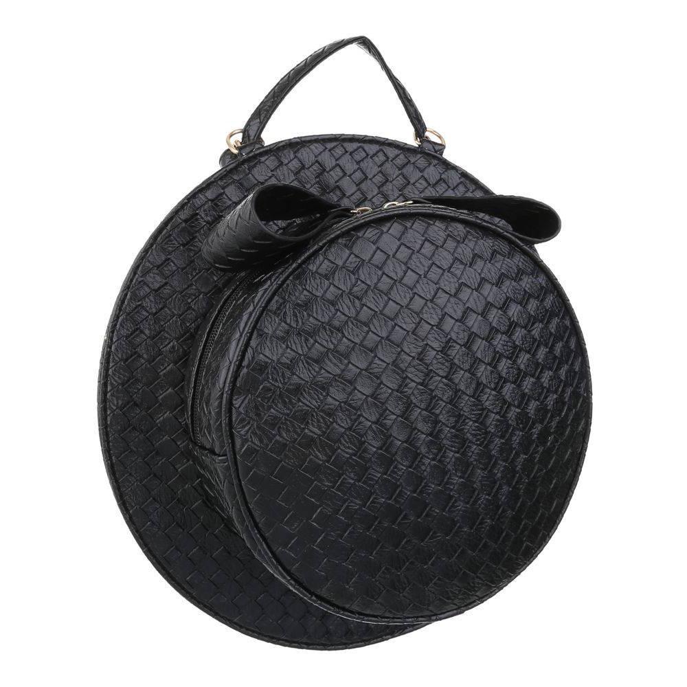 Женская круглая наплечная сумка в форме шляпы (Европа) Черный
