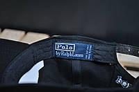 Кепка Polo черная синий лого