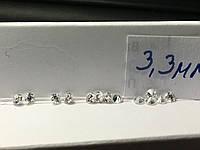 Бриллиант натуральный природный белый чистый купить в Украине 3,3 мм  0,14 карат 3/4-3/5, фото 1