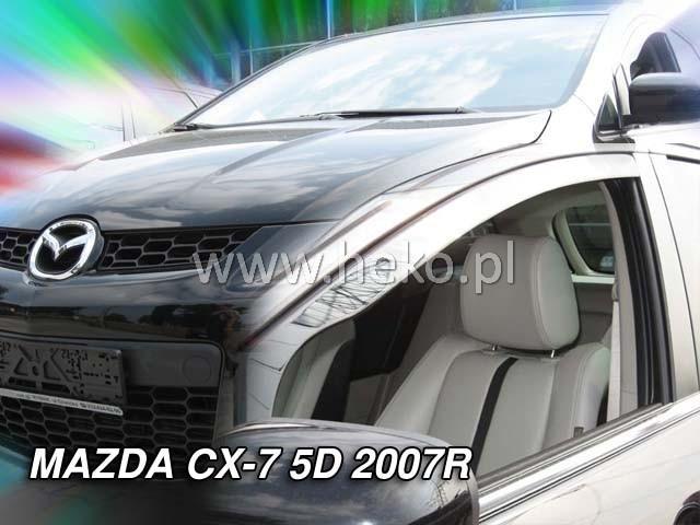 Дефлекторы окон (ветровики)  MAZDA CX-7  5D (Только передки) 2006R (HEKO)