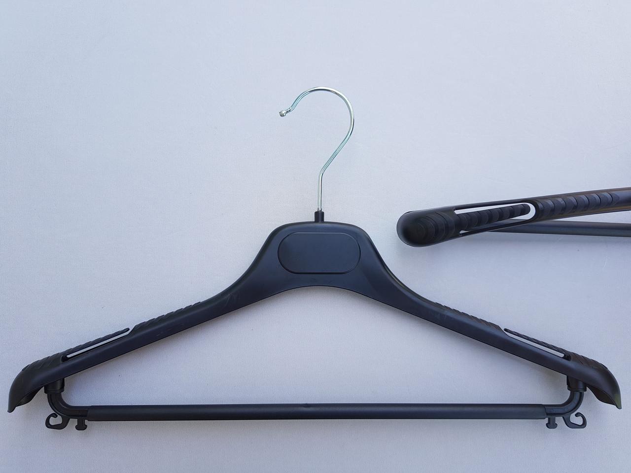 Довжина 40 см. Плічка вішалки пластмасові V-TOPp40 чорні