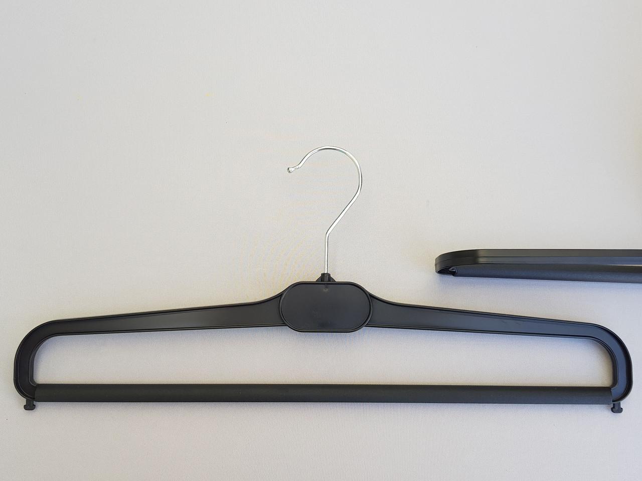 Длина 41 см. Плечики вешалки пластмассовые для брюк и юбок  V-BV41 черные