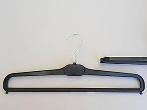 Довжина 41 см. Плічка вішалки пластмасові для штанів і спідниць V-BV41 чорні