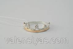 Комплект серебряных украшений в форме короны , фото 3