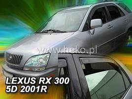 Дефлекторы окон (ветровики)  Lexus RX300 1999R.-> 5D 4шт (Heko)