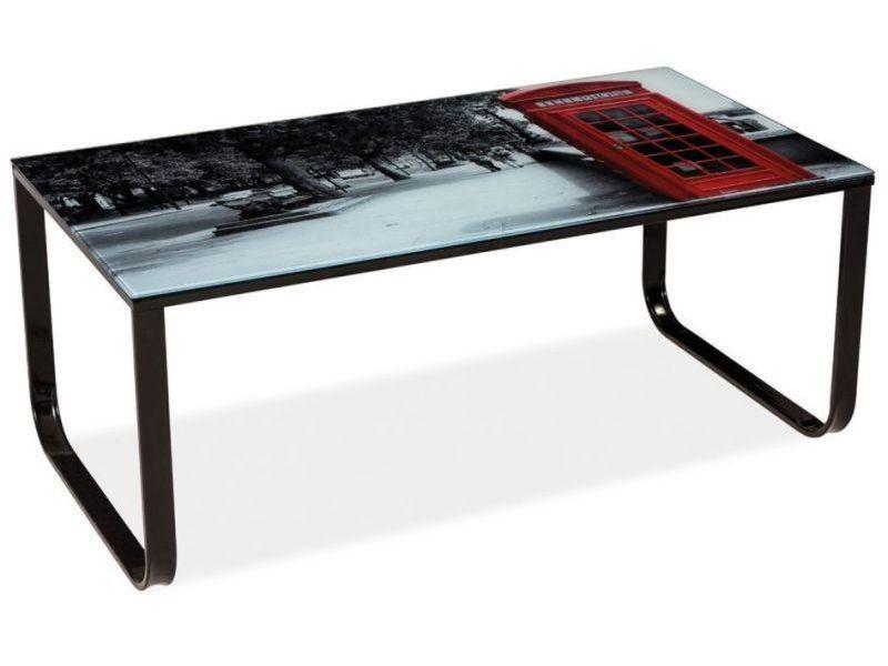 Журнальний кофейний стіл зі скла у вітальню Taxi II Signal