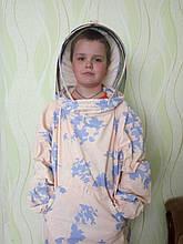 Куртка бджоляра бязь кольорова з маскою євро