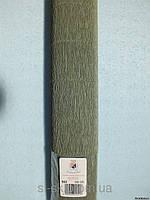 Бумага гофрированная, 562 светлая оливка