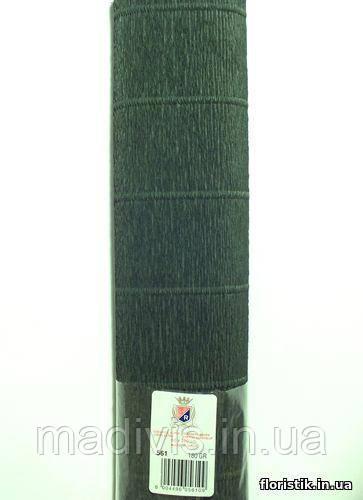Бумага гофрированная, 561 темно-зеленая НОВИНКА
