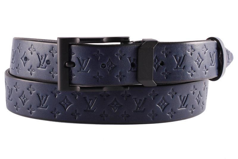 Ремень женский кожаный тесненный Louis Vuitton Луи Виттон