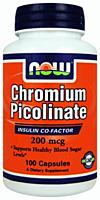 Жиросжигатель NOW Foods Chromium picolinate 200mcg 100 caps