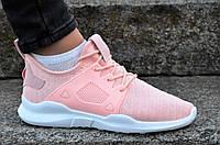 Кросовки женские подростковые нежно розовые текстиль практичные, стильные (Код: 1162)