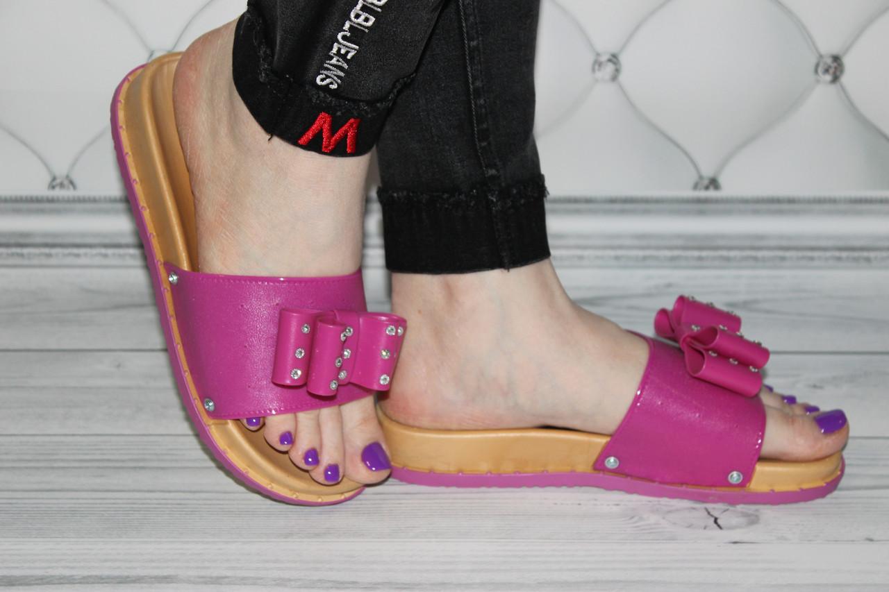 Женские силиконовые шлепки розового цвета размер 37