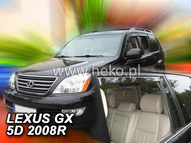 Дефлекторы окон (ветровики)  LEXUS GX - 5D 2002-2009R (HEKO)