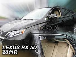Дефлекторы окон (ветровики)  LEXUS RX - 5D 2009-2015R (HEKO)