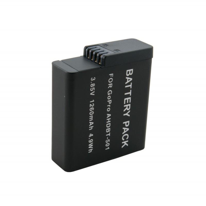 Аккумулятор AHDBT-501, Extradigital, 1260 mAh / 3.85 V, Li-Ion, для Go