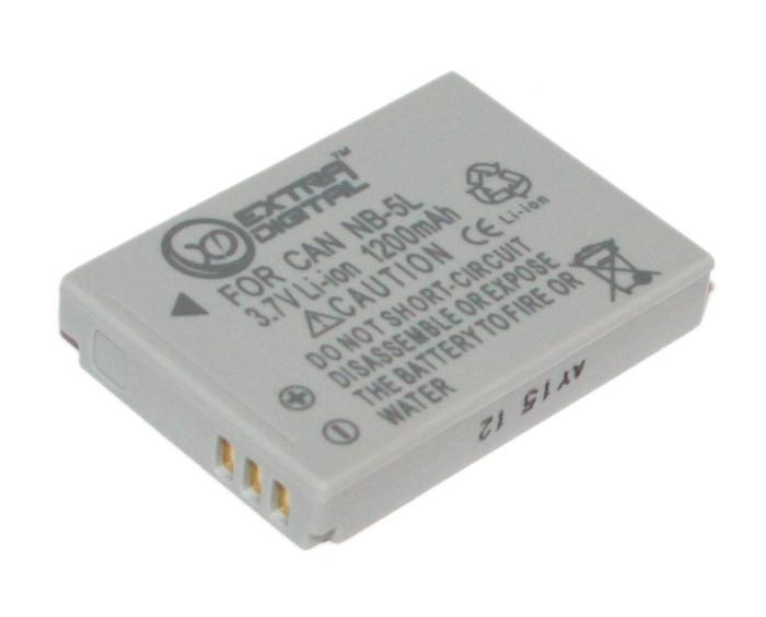 Аккумулятор Canon NB-5L, Extradigital, 1200 mAh / 3.7 V, Li-Ion (BDC24