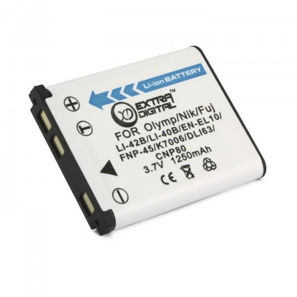Аккумулятор Olympus LI-40B/42B, Extradigital, 1250 mAh / 3.7 V, Li-Ion