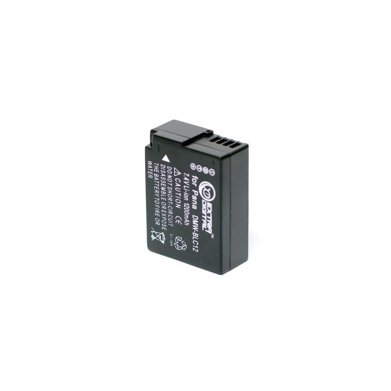 Аккумулятор Panasonic DMW-BLC12, Extradigital, 1200 mAh / 7.4 V, Li-Io