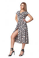 Легкое женское платье на лето с коротким рукавом крылышко