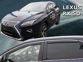Дефлекторы окон (ветровики)  LEXUS RX - 5D 2016- (HEKO)