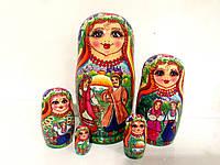 Подарки креативные Матрешки оптом и в розницу большие 18 см в украинском стиле, красивая 5 мест (9)