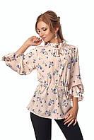 Блуза нежная в цветочный принт