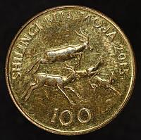 Монета Танзании 100 шиллингов 2015 г.