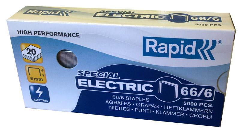 """Архивные скобы """"с ушком"""" для электрического степлера.   Rapid Strong 66/6R Galvanized"""
