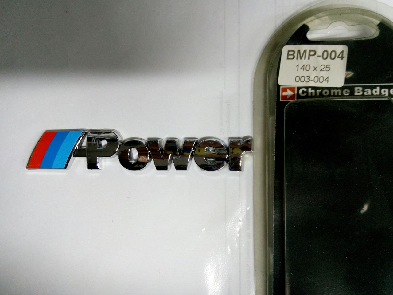 Надпись BMW  ///POWER  140х25 мм
