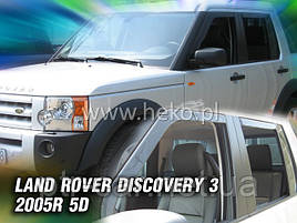 Дефлекторы окон (ветровики) LAND ROVER DISCOVERY - 5D 2004 – 2010R (Heko)