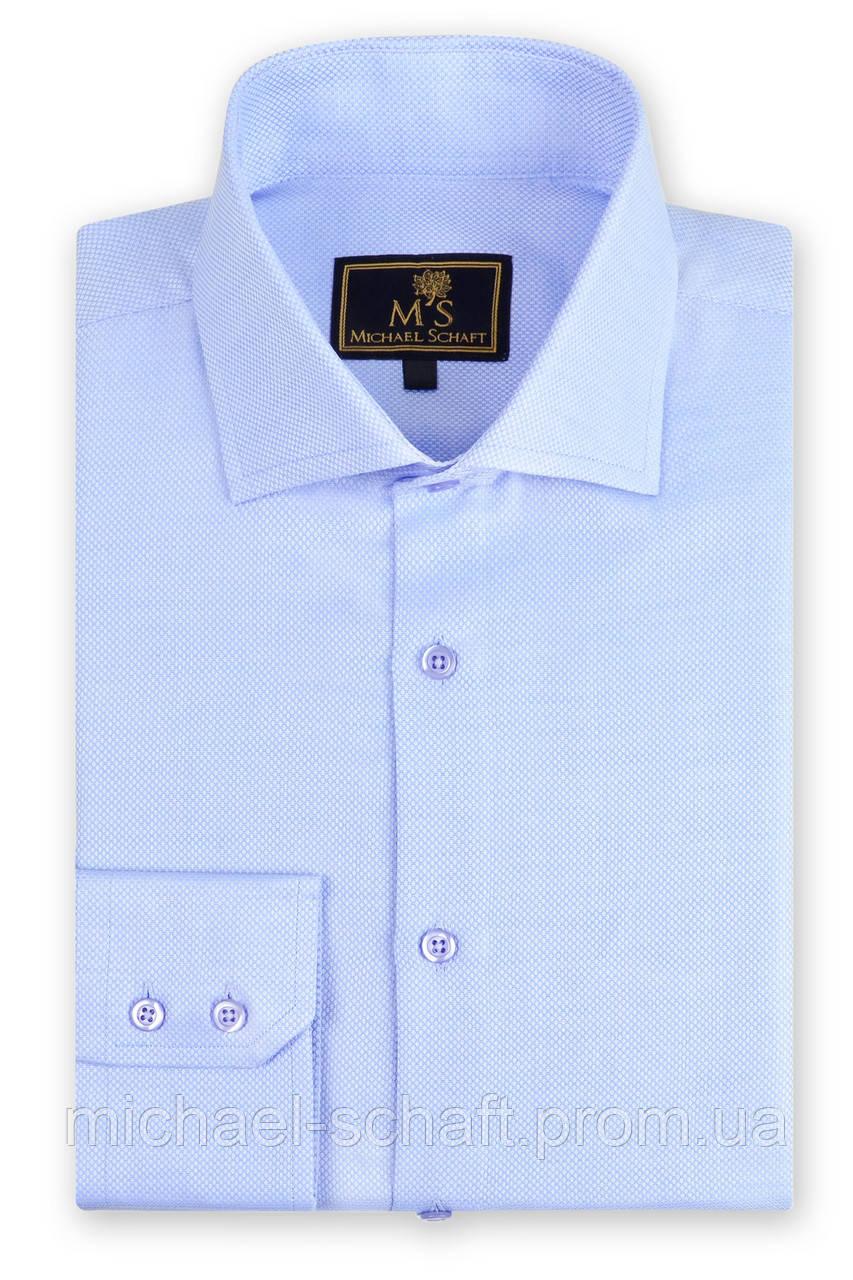 04b81d7c74333d5 Рубашка мужская Michael Schaft Голубая