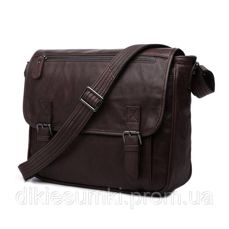 7d4f2cd7e04f Кожаная мужская сумка на плечо мессенджер JASPER&MAINE 7022C - Интернет  магазин - Дикие сумки в Черноморске