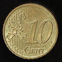 Монета Германии 10 евро центов  1999 г., фото 1