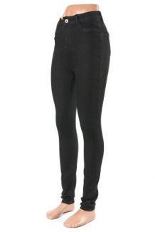 e53dc7e1c64f9 Женские джинсы с высокой посадкой (Американка) 25-31 DM5525 (черный) купить  оптом прямой поставщик