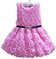 """Нежно-розовое платье для девочки """"Сирень"""" , фото 1"""
