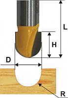 Фреза пазовая галтельная ф19х13, r9.5, хв.8мм (арт.10505)
