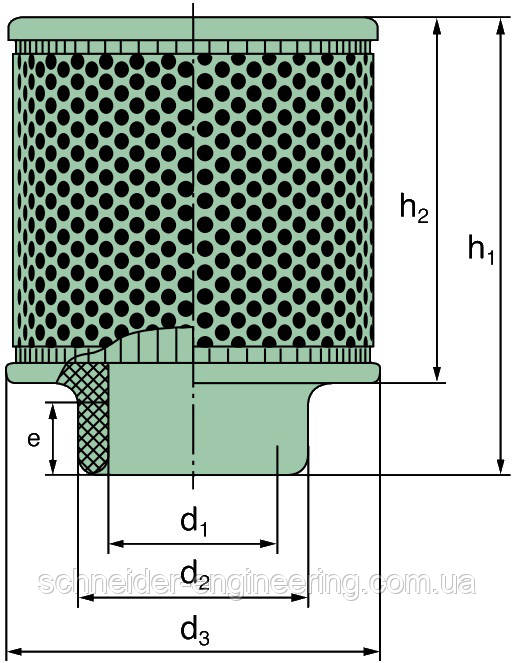 Air filter MANN C 31 1195/1 for MTU 2000 series and MAN LE 3262 (530kW)