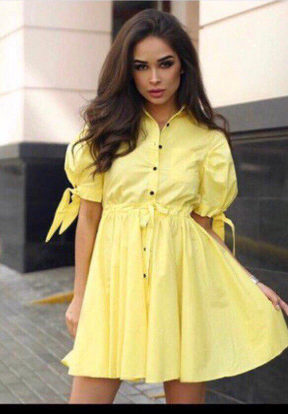 Женское платье на пуговицах с декором, в расцветках. ЮЛ-16-0518