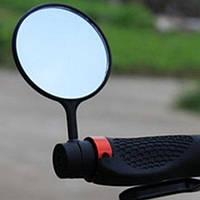 Зеркало заднего вида для велосипеда - заглушка в руль (велозеркало, велосипедное), круглое