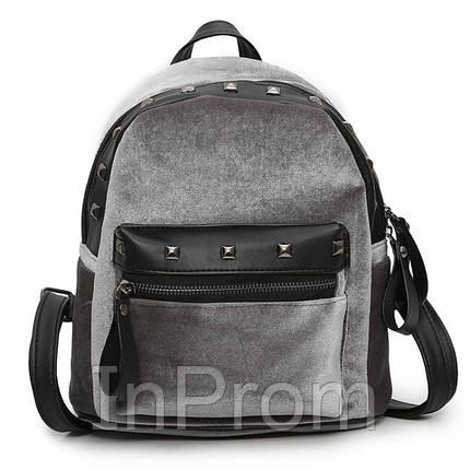 Рюкзак Jesse Velor Gray, фото 2