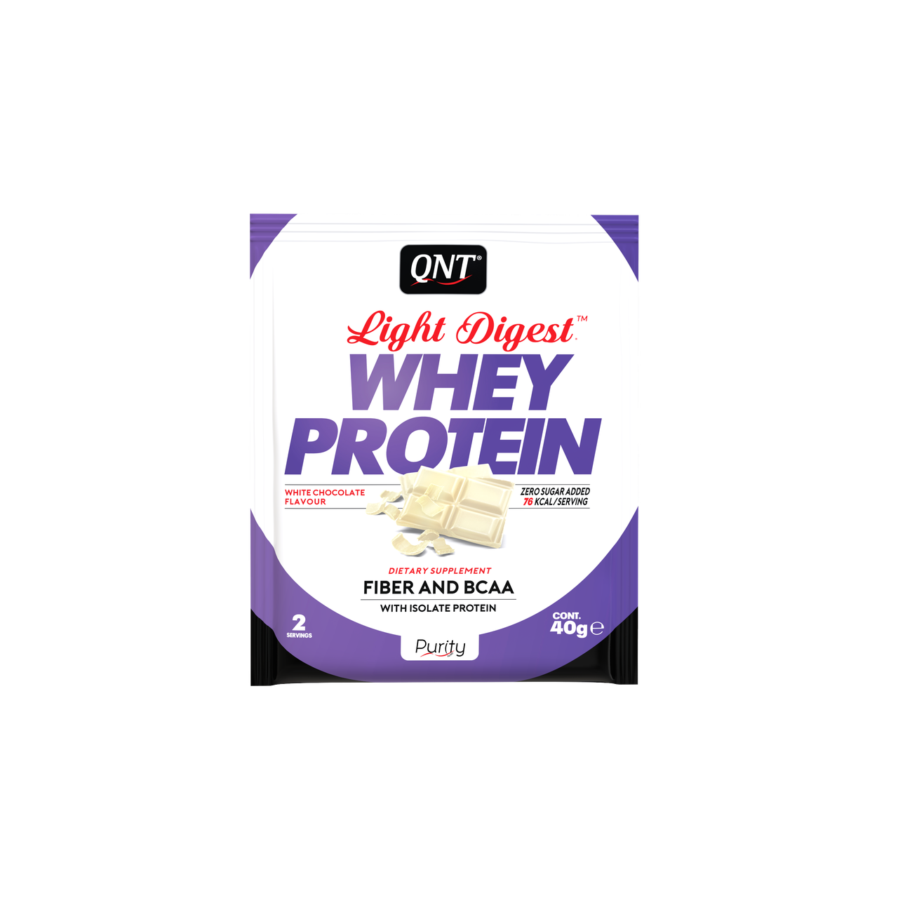 QNT_Light Digest Whey Protein 500 г - White Chocolate