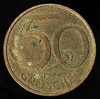Монета Австрии  50 грошей 1978 г.