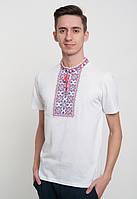 Вышиванка белая  мужская в украинском стиле