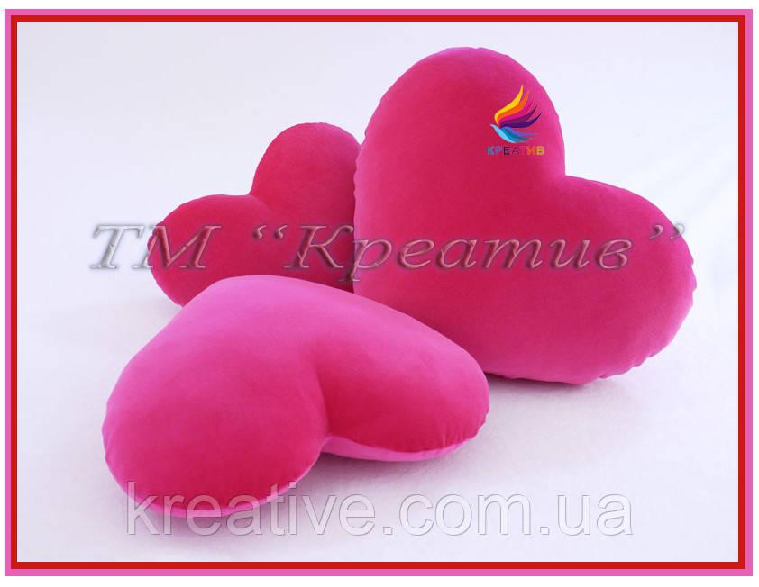 Подушка сердце с Вашим логотипом (под заказ от 100 шт)