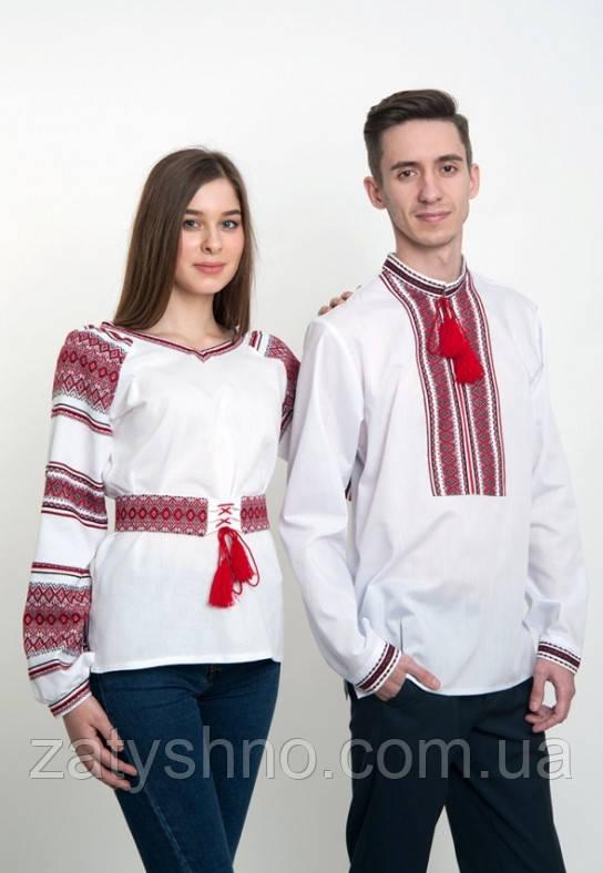 Семейные вышиванки для пары белые
