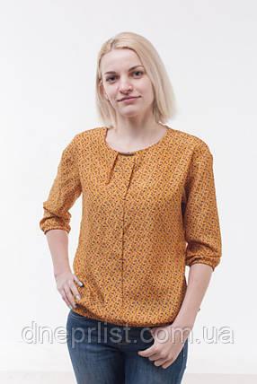 Блуза женская из шифона, желтая (р. 44-48), фото 2