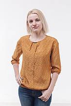 Блуза жіноча з шифону, жовта (р. 44-48)