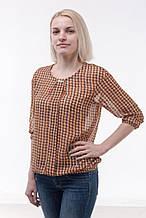 Блуза жіноча з шифону, помаранчева (р. 44-48)