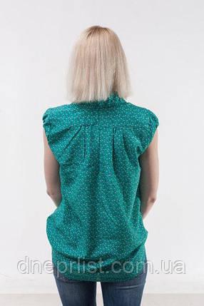 Блуза женская из шифона без рукава, зеленая (р. 44-46), фото 2